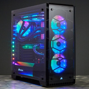 Pc Black White And Blue Build
